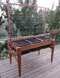 Waist High Raised Bed Garden Planter       For your beans!