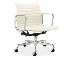 Room & Board - Eames® Aluminum Management Chair in White Leather by Herman Miller® $2149 Find knock off??
