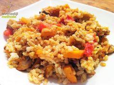 Pompoen risotto | Pumpkin risotto | Pompoen | Pumpkin | Risotto | Champignons | Mushrooms | Tomaat | Tomato | Rijst | Rice | Diner | Dinner | Eten | Food | Gezond | Healthy | Dreambody transformation | De Levensstijl | Asja Tsachigova Fried Rice, Quinoa, Risotto, Fries, Vegan, Dinner, Ethnic Recipes, Food, Mushroom