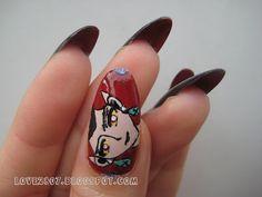 miss.love2807: [Sailor Moon Nail Art]: Queen Beryl