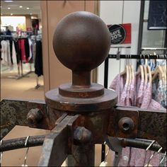 Rust as a finish is catchy for street-wise clothing lines and industrial-chic… Retail Fixtures, Industrial Chic, Rust, It Is Finished, Shapes, Display, Street, Business, Clothing