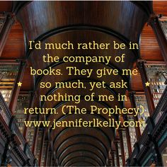 Books don't judge you and they offer escape into another world! #quotes #theprophecy #luciachronicles #jenniferlkelly