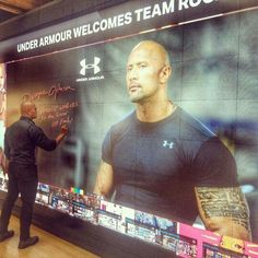 Dwayne at the signing of The Icon Wall at Under Armour in Baltimore.