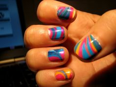 water marbling nail polish tutorial - Grated Expectations