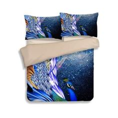 Luxury Bohemia Peacock printing bedding set comforter duvet cover set for king size Cotton bed linen Cheap Bedding Sets, King Bedding Sets, Comforter Sets, King Size Bed Linen, Bed Linen Sets, Peacock Bedding, Textiles, Cotton Bedding, Linen Duvet