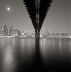 Available for sale from Robert Mann Gallery, Michael Kenna, Brooklyn Bridge, Study New York Silver toned print, 7 × 7 in Nocturne, Moving To San Francisco, Black And White Landscape, Black White, Color Negra, Brooklyn Bridge, Black And White Photography, Amazing Photography, Night Photography