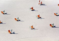 Aerial photographs of beaches