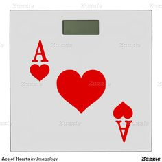 Ace of Hearts Bathroom Scale