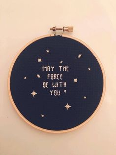 star wars may the force cross stitch hoop by jsimonstitches