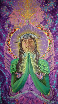 Luis Tamani Amasifuen is a shaman and visionary painter who documents his encounters with the plant teacher, Mother Ayahuasca. Portraying transcendental experiences of unity with nature, Amasifuen's work resonates with.View More → Psychedelic Art, Psy Art, Spirited Art, Mystique, Visionary Art, Sacred Art, Sacred Geometry, Trippy, Fantasy Art