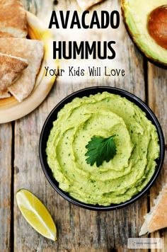 Healthy Avocado Hummus Recipe. This is an amazingly easy recipe that makes a great snack or healthy lunch idea. Your kids will love it.