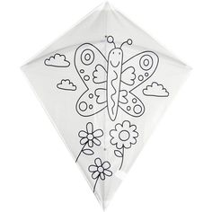 Colour In - Butterfly Kite, makes a lovely present for kids Age 6, they can colour in the kite on their own and then enjoy playing with it afterwards !