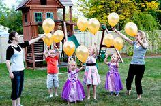 Rapunzel Birthday - Releasing the lanterns