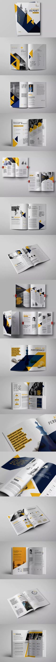 Annual Report Template InDesign INDD - A4 and US Letter Size #unlimiteddownloads