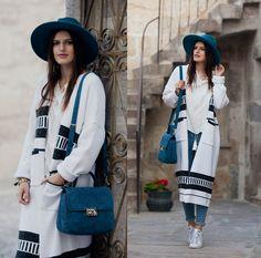 Viktoriya Sener - Catarzi Hat, Chic Wish Blouse, Vipme Cardigan, Mango Jeans - FAVORITE OUTFIT