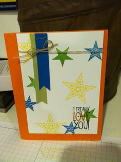 Star Card - Stampin' Up!
