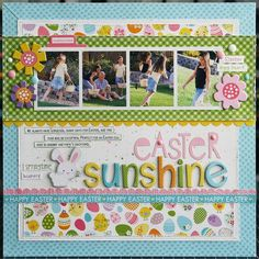 Bella Blvd. Simply Spring layout by Laura Vegas.