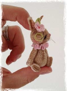 Looking for crocheting project inspiration? Check out Mini Thread Crochet Bunny 'KoKoBeaN' by member TheTinyToyBox.