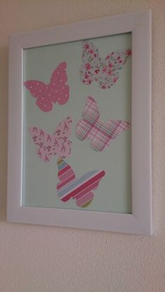 Butterfly nursery art - have butterfly wallpaper pieces for this!