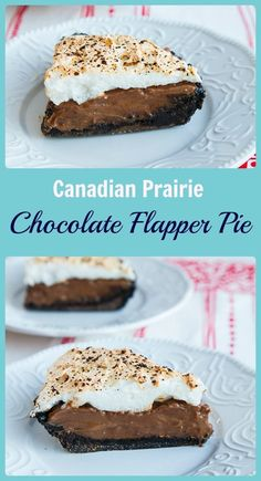 Chocolate Flapper Pie recipe, a delicious chocolate version of the Canadian Prairie classic! From (Homemade Chocolate Pie) Canadian Cuisine, Canadian Food, Canadian Recipes, Canadian Culture, Delicious Chocolate, Homemade Chocolate, Chocolate Desserts, Chocolate Meringue, Köstliche Desserts