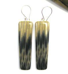 Polymer Clay Earrings  Faux Ikat Madagascar by DivaDesignsInc, $26.00  https://www.etsy.com/listing/193639194/polymer-clay-earrings-faux-ikat