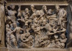 Giovanni Pisano, Strage degli Innocenti (pulpito), 1298-1301, Chiesa di Sant´Andrea, Pistoia.