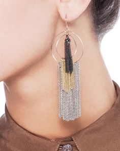 Hula Fringe Earrings - Should be easy to make.