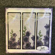 Craftwork cards: Ultra Violet By Lisa Shaw Craftwork Cards, Ultra Violet, Flora, Just For You, Paper, Frame, Decor, Picture Frame, Decoration