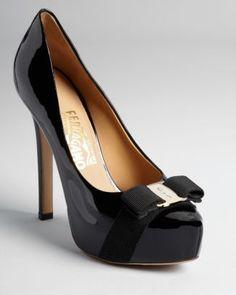 Salvatore Ferragamo Platform Pumps - Trilly Bow - Pumps - Shoes - Shoes - Bloomingdale's