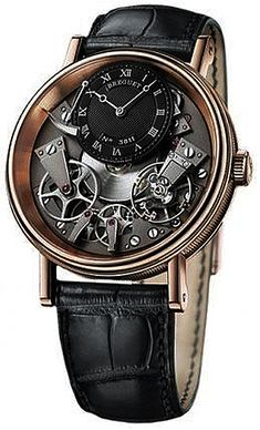 Breguet Tradition Automatic Skeleton Dial 18 kt Rose Gold Mens Watch - Mens Watches - Ideas of Mens Watches Men's Watches, Fine Watches, Luxury Watches, Cool Watches, Fashion Watches, Modern Watches, Rolex, Amazing Watches, Beautiful Watches