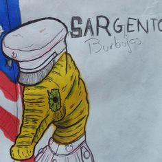 Sargento burbujas Dibujo