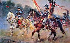 Húsares y Coraceros (Husarze i Pancerny) - Jerzy Kossak