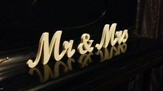 3D sign Mr & Mrs cut from wood  wedding table decoration by SunFla, $25.00