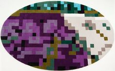 pixelated rug by Alfombras Veo Veo