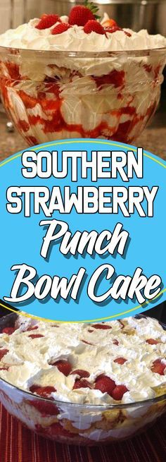 "Welcome again to ""Yummy Mommies"" the home of meal receipts & list of dishes, Today i will guide you how to make ""Southern Strawberry Punch Bowl Cake"". I made this Delicious recipe a few days Strawberry Desserts, Köstliche Desserts, Cake Recipes, Snack Recipes, Dessert Recipes, Appetizer Recipes, Appetizer Dishes, Healthy Recipes, Appetizers"