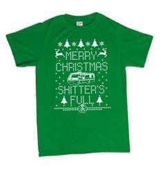 Merry Christmas Shitters Full Funny Novelty T-Shirt