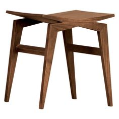 Icaro, contemporary low stool made of solid ashwood. designed by Itamar Harari