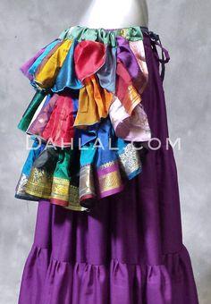 Dahlal Internationale Store - SUNBURST Vintage Sari Bustle Wrap Skirts, $27.00…