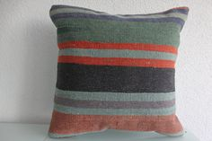 Excited to share the latest addition to my #etsy shop: 24x24 Multicolour Kilim Pillow Extra Large Pillow Kilim Pillowcase Floor Pillow Striped Pillow Cushion Case Home Decor Bohemian Pillow 449 http://etsy.me/2BJfIXv #housewares #pillow #kilimpillow #kilimpillowcover #
