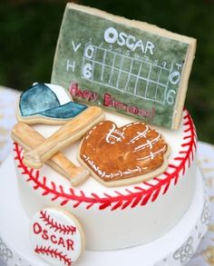 Vintage Baseball Birthday Cake By sweetkiera on CakeCentral.com