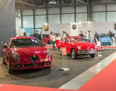 2 generations side by side at Milano Auto Classica! Alfa Romeo Giulia, Cars And Motorcycles, Motorbikes, Cool Cars, Ferrari, Greece, Automobile, Wheels, Racing
