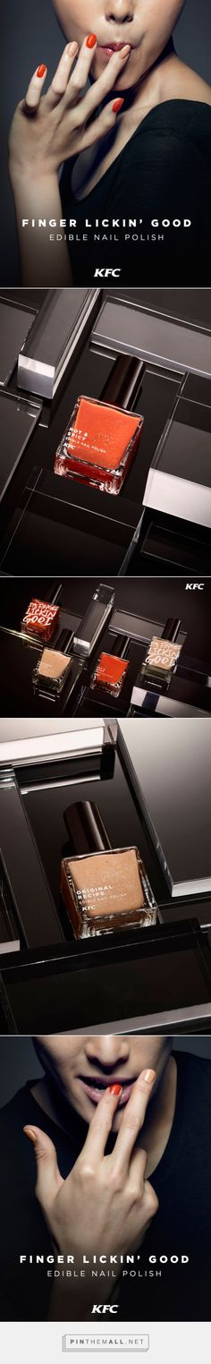 KFC Finger Lickin' Good Edible Nail Polish by Ogilvy & Mather / Brand Union - http://www.packagingoftheworld.com/2016/05/kfc-nail-polish.html