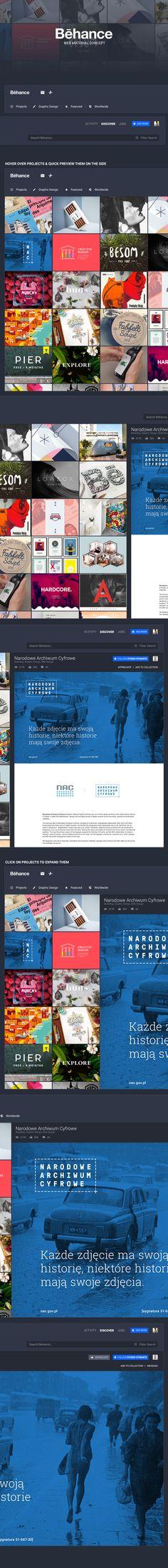 Behance Web Material Concept on Behance
