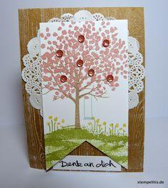 Stempelitis, Stampin up, Baum der Freundschaft, Karte, Frühling, Demonstrator