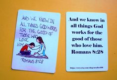 Mini Scripture Doodle Bible Verse Memory Card of by Acrylics139