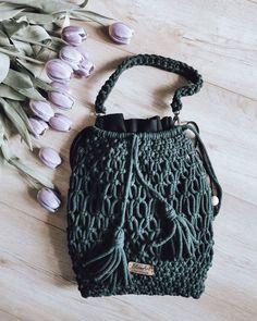 """Polubienia: 159, komentarze: 14 – Justyna Broźna I BOHO handmade (@bloomart.handmade) na Instagramie: """"Dzień dobry! Cześć! 💁🏻♀️ Patrzcie jakie piękne odkryłam ostatnio fioletowe tulipany! 💜 W ogóle…"""" Drawstring Backpack, Bucket Bag, Backpacks, Boho, Fashion, Moda, Fashion Styles, Women's Backpack, Fashion Illustrations"""