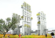 vertical agriculture urban farm Sustainable Building
