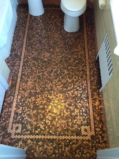 Cents and Sensibility: How To Install A Copper Penny Floor DesignRulz.com