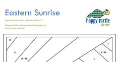Eastern Sunrise Block_Free Paper Piecing Pattern_Happy Turtle.pdf