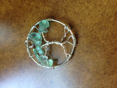 "Green Tree Of Life Pendant#3  Almost 2"" long  $20-30 Other colors are optional, which changes price."